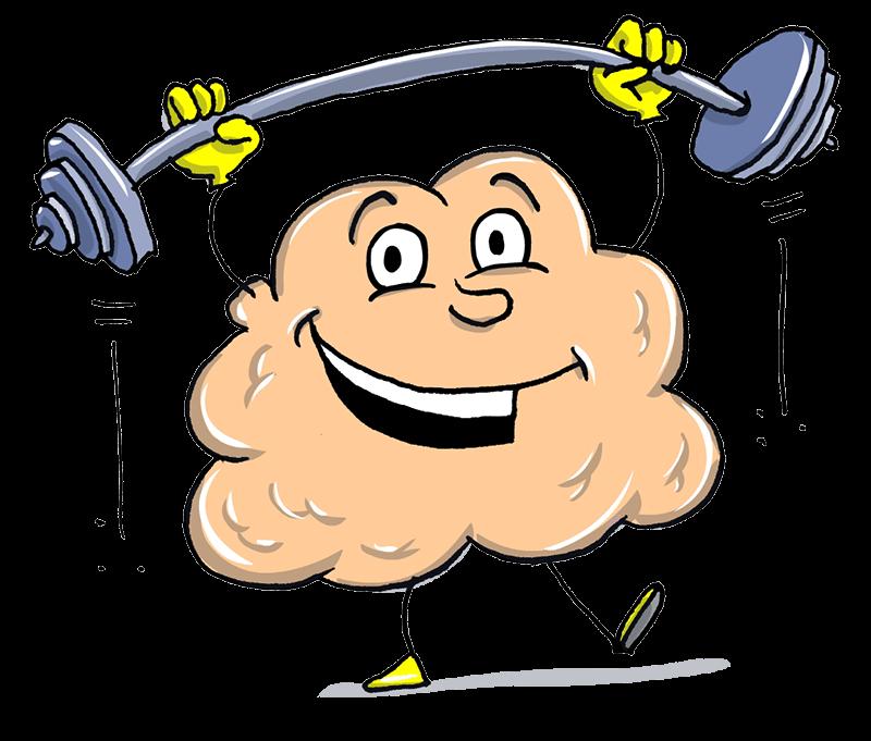 Gehirn-froh und stark