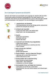 10 Symptome bei ADS:ADHS
