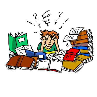 Kind im Lernstress - Kind ist gestresst und frustriert wegen den schlechten Noten