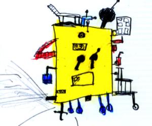 Roboter erledigt alle Lernaufgaben
