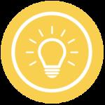 Tipps-Symbol: Glühbirne